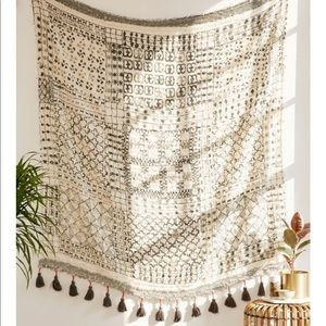 UO Besso Textured Fringed Tapestry